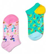 Happy Socks 2-Pack Confetti Palm Low Socks confetti palm (7000)