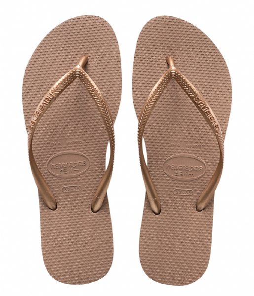 Havaianas Slippers Flipflops Slim rose gold colored (3581)