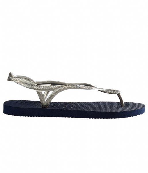 Havaianas Slippers Kids Flipflops Luna navy silver colored (0445)