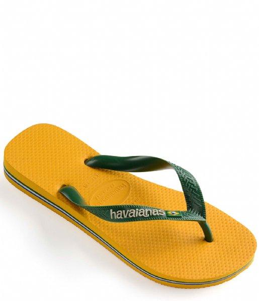 Havaianas Slippers Kids Flipflops Brasil Logo banana yellow (1652)