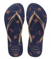 Havaianas Flipflops Slim Nautical navy bue rose gold (1754)
