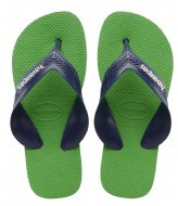 Havaianas Kids Flipflops Max blue denim leaf green (7669)