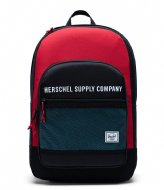 Herschel Supply Co.  Athletics Kaine 15 Inch black red bachelor button (03101)