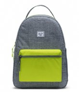 Herschel Supply Co. Nova Youth raven crosshatch lime green (03024)