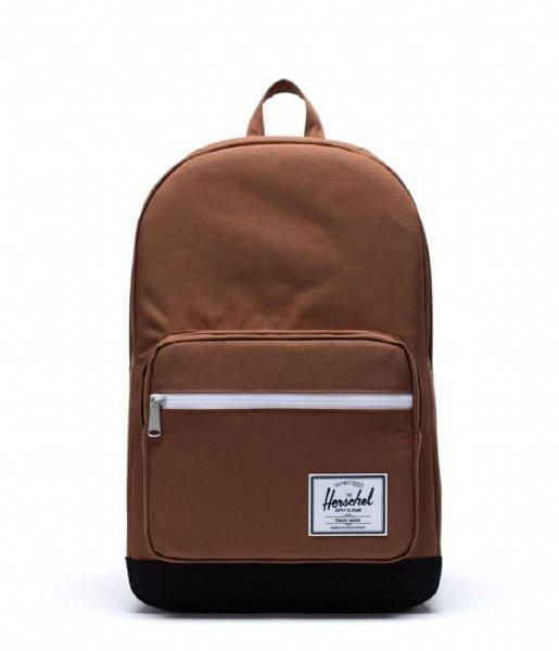 Herschel Supply Co. Laptop rugzak Pop Quiz 15 Inch saddle brown black (03271)