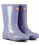 Hunter Original Kids First Classic Giant Glitter Wellington Boots Pulpit purple