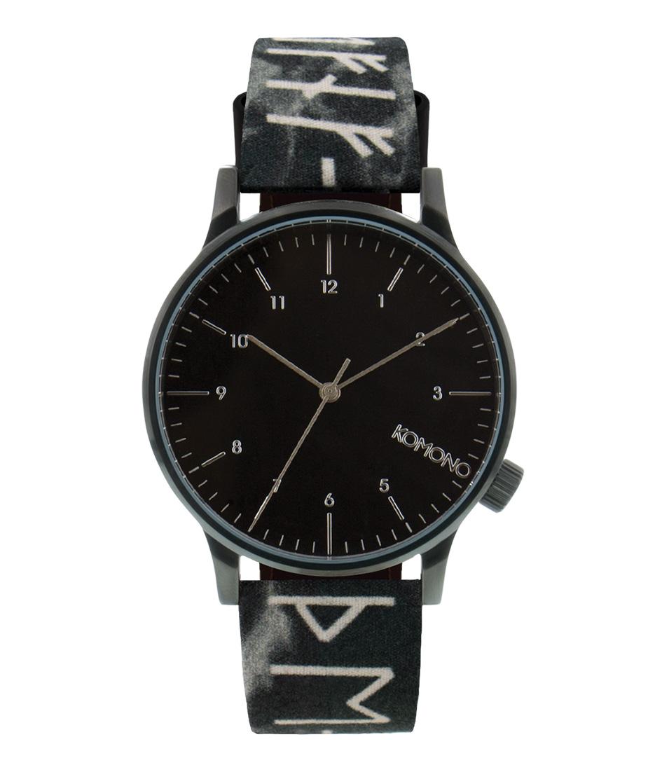 KOMONO Horloges Winston Rune Zwart