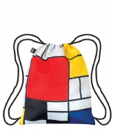 LOQI Backpack Museum Collection composition with red yellow blue and black