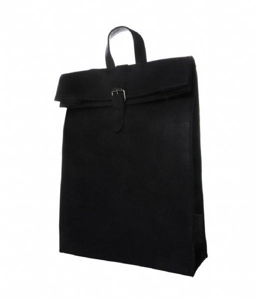 Laauw Laptop rugzak Nine Streets Laptop Backpack 15 Inch Canvas black