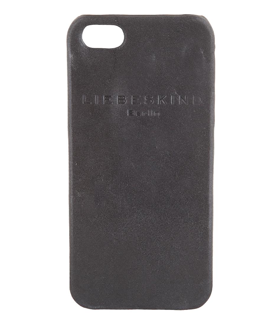 metallic suede iphone 5 cover black liebeskind the little green bag. Black Bedroom Furniture Sets. Home Design Ideas