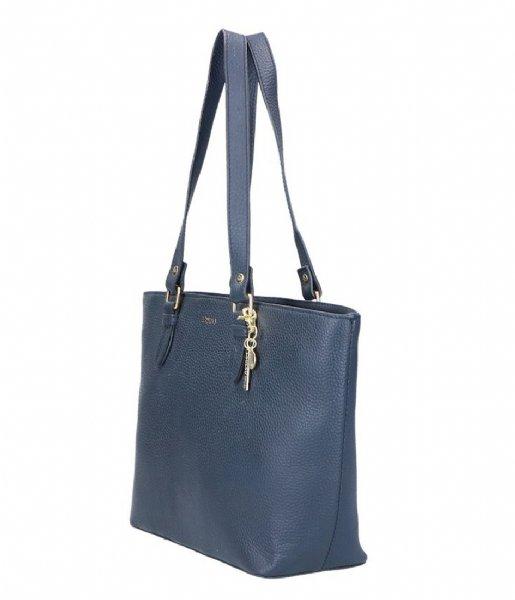 LouLou Essentiels Schoudertas Bag Beau Veau dark blue 050