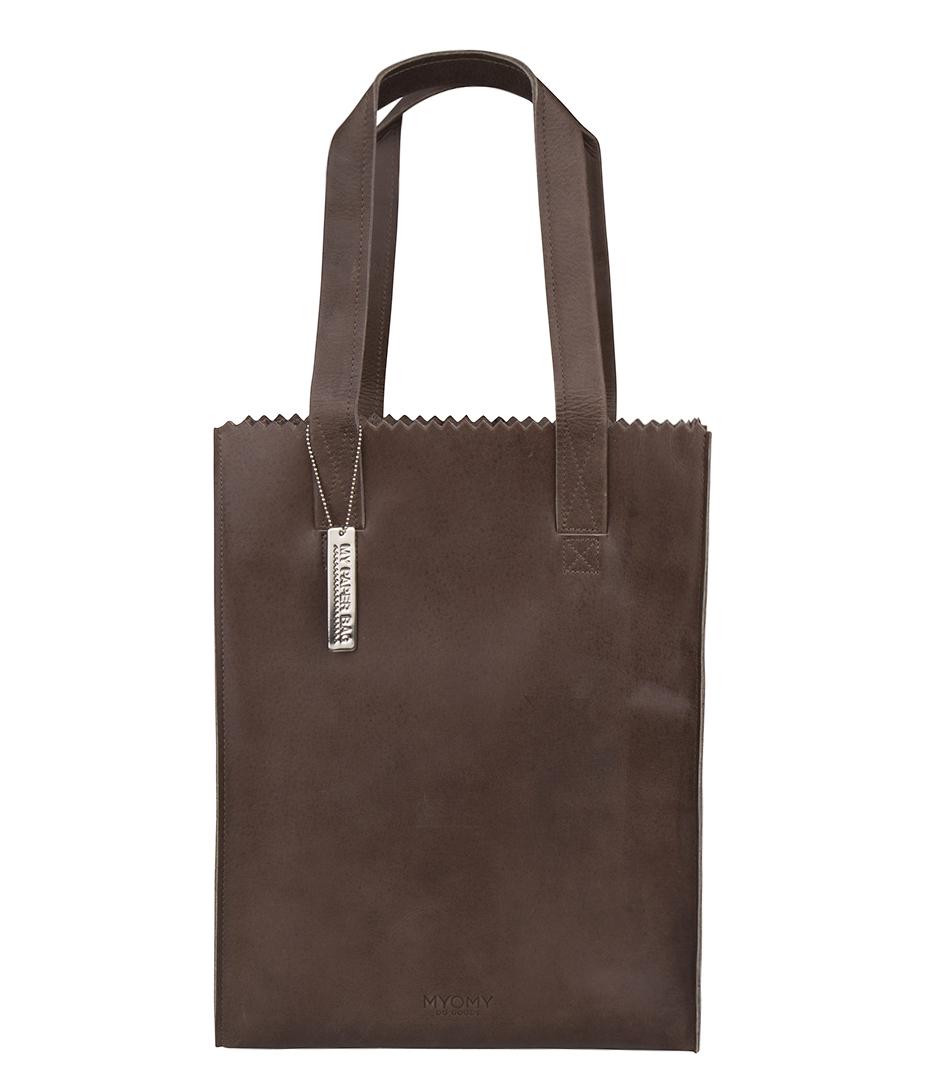 Schoudertas Taupe : My paper bag zipper long handles new hunter waxy taupe