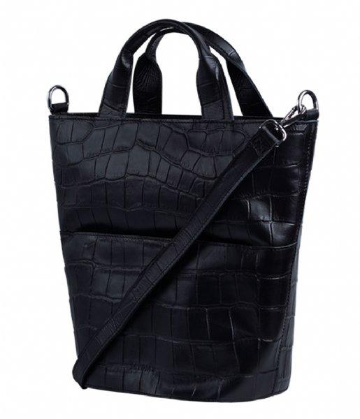 MYOMY Handtas My Bucket Bag Handbag Croco black (3157-3014)