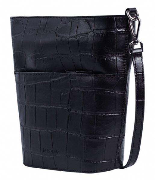 MYOMY Crossbodytas My Bucket Bag Mini  Croco black (3151-3014)