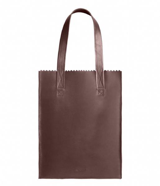 MYOMY Schoudertas My Paper Bag Long handle zip Aubergine(1027-82)
