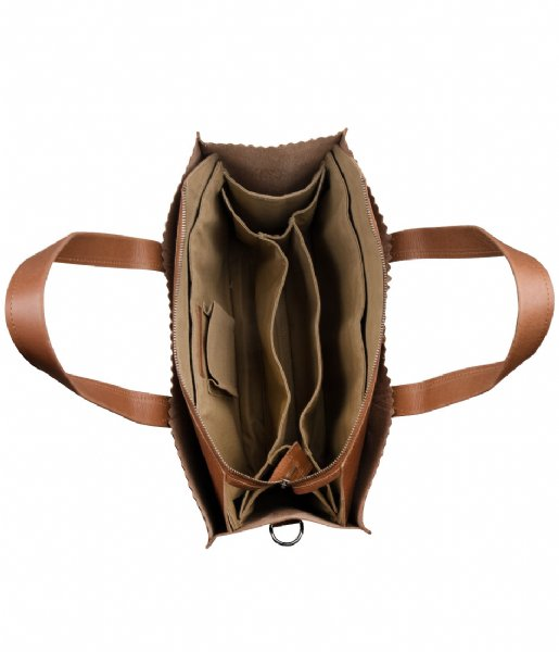 MYOMY Schoudertas My Paper Bag Baby hunter waxy cognac (10361237)