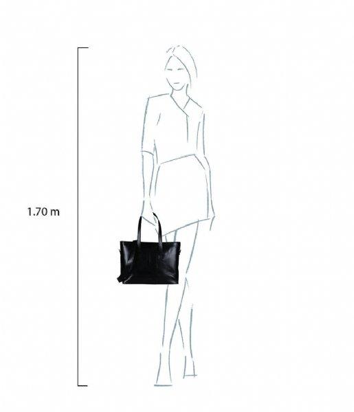 MYOMY Schoudertas My Paper Bag Wrapped Workbag 15 Inch hunter waxy black (2133-1162)