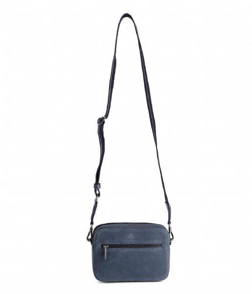 Markberg Crossbodytas Elea Crossbody Bag Suede Mix Navy with navy black gunmetal