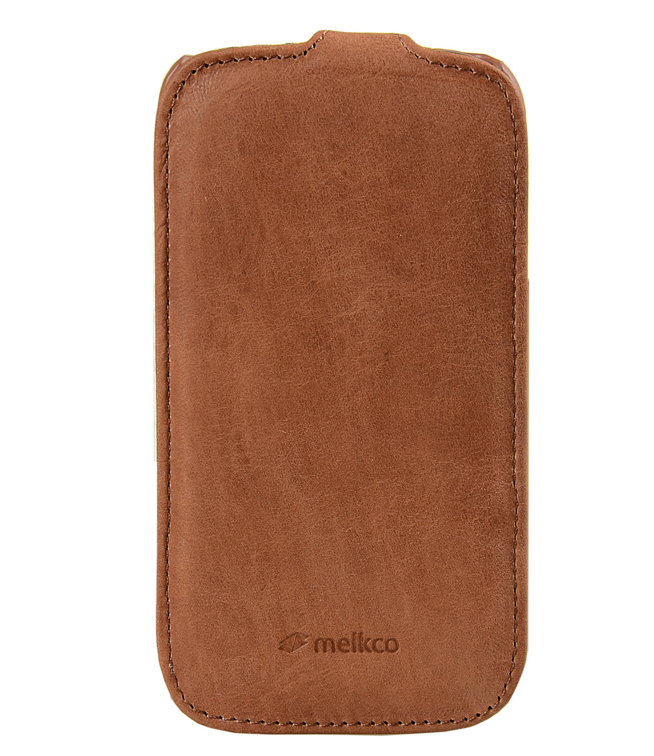 Melkco Smartphone covers Leather Case Galaxy S3 Zwart