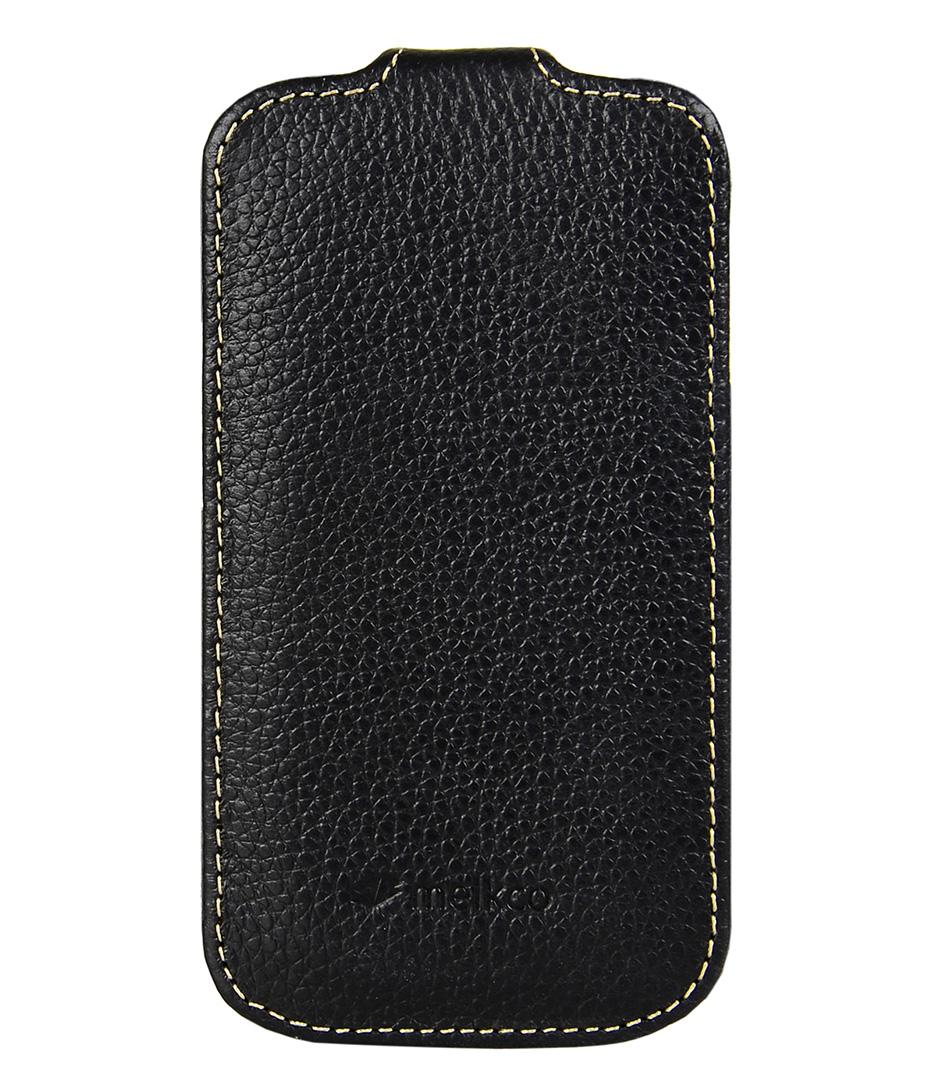 Melkco Smartphone covers Leather Case S3 Mini Zwart