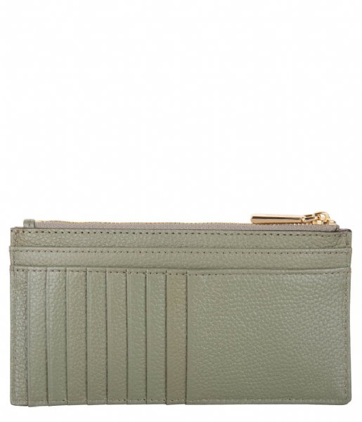 Michael Kors Pasjes portemonnee Jet Set Lg Slim Card Case army green