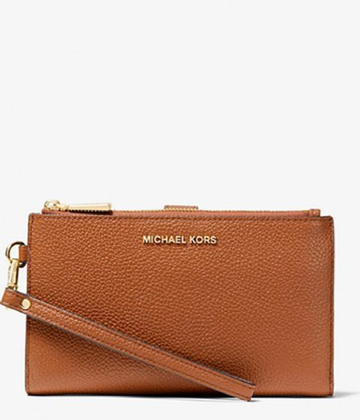 Michael Kors Clutch Double Zip Wristlet luggage & gold colored hardware