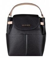 Michael Kors Large Backpack black & gold colored hardware