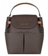 Michael Kors Large Backpack brown acorn & gold colored hardware