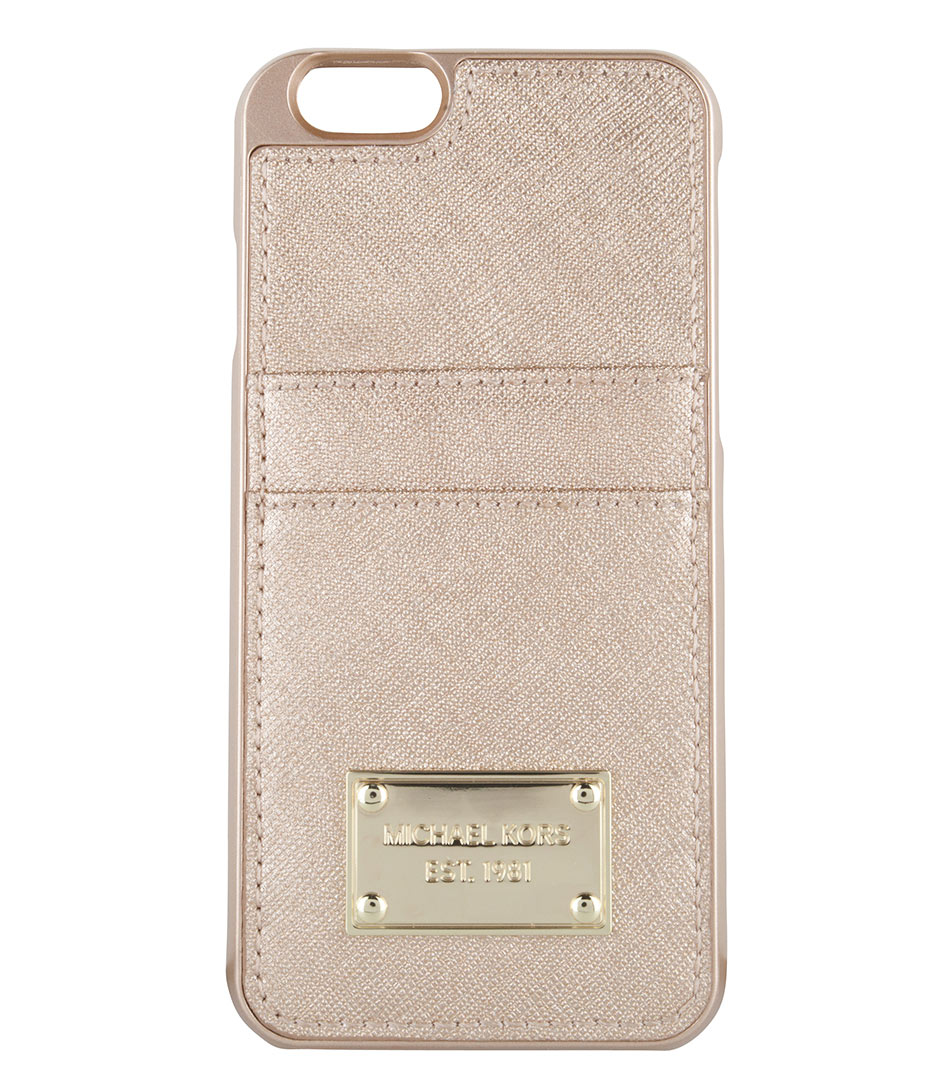iphone 6 cover pale gold michael kors the little green bag On housse iphone 6 michael kors