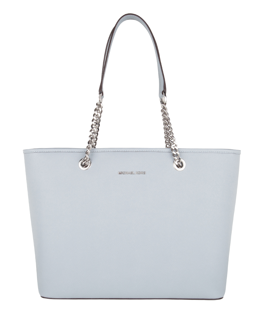 Tassen Uk : Jet set travel chain top zip multi tote dusty blue