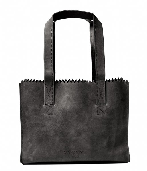 MYOMY Schoudertas MY PAPER BAG Handbag off black (774090)