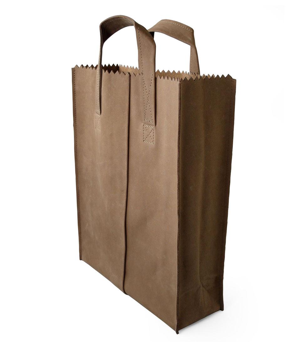 Zalando Tassen Leer : My paper bag short handle original myomy the