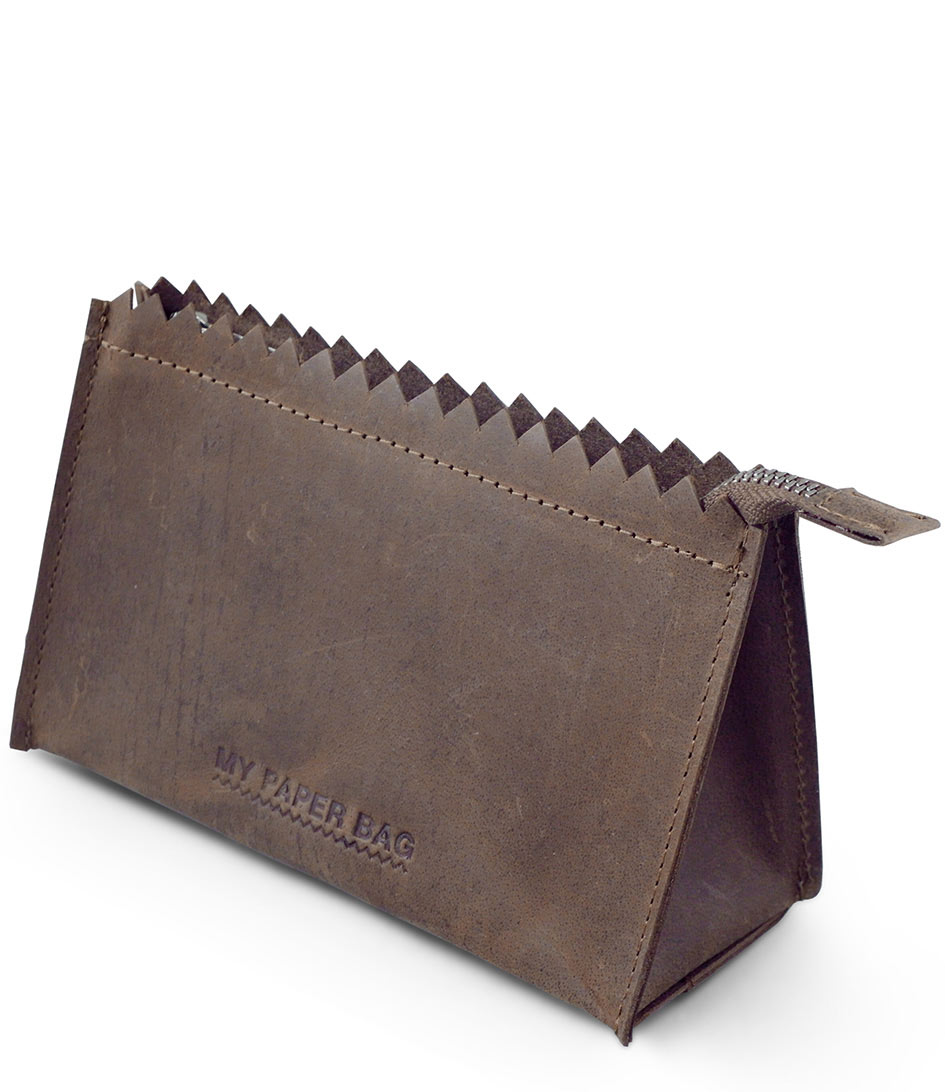 MYOMY Make up tasjes My Paper Make Up Bag Bruin