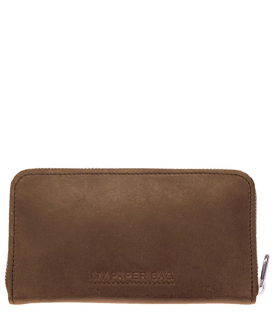 MYOMY Portemonnees My Paper Wallet Large Bruin