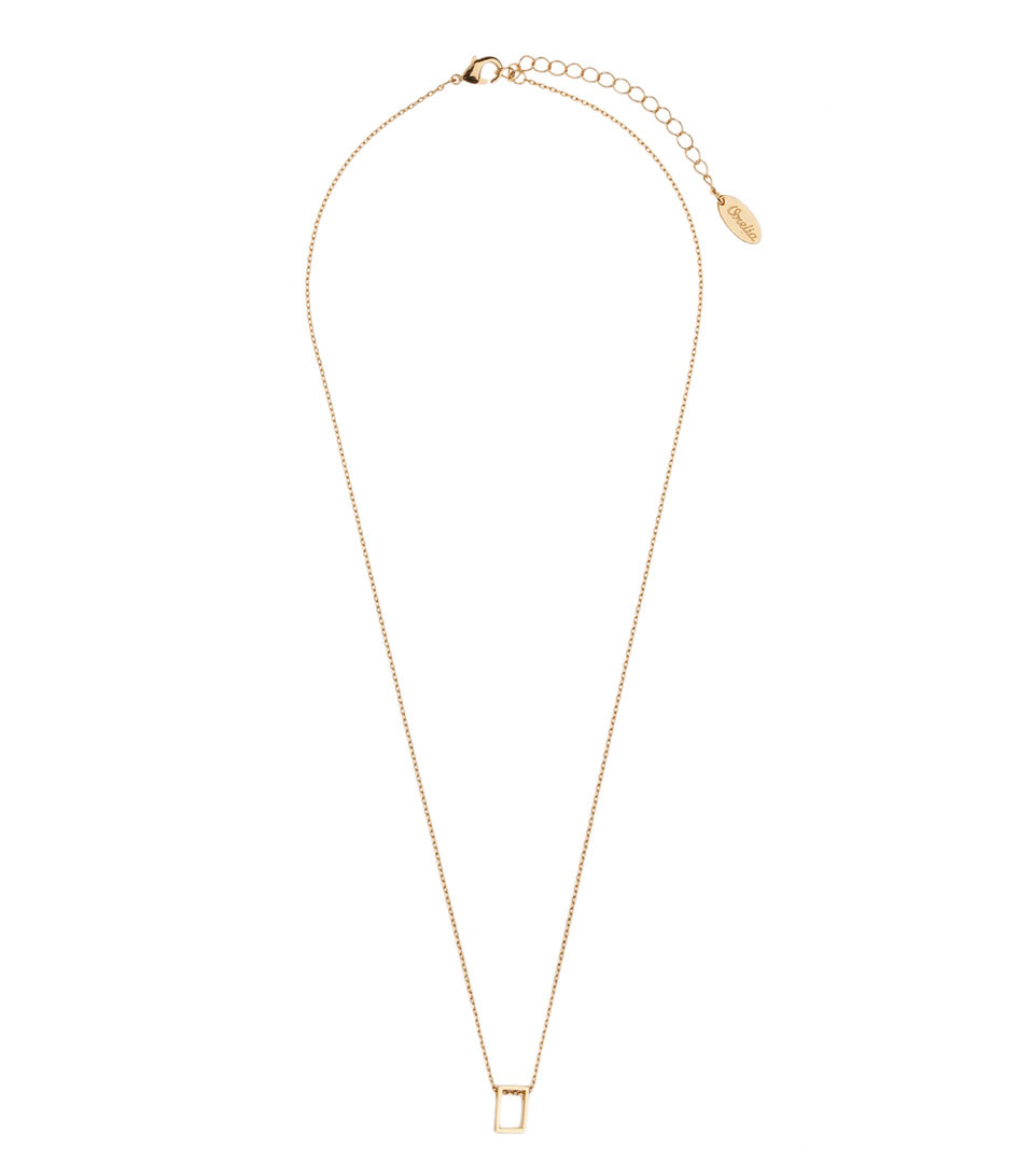 Orelia Kettingen Open Rectangle Ditsy Necklace