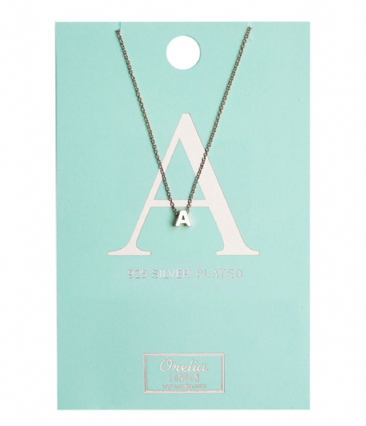 Orelia Ketting Necklace Initial A silver plated (10367)