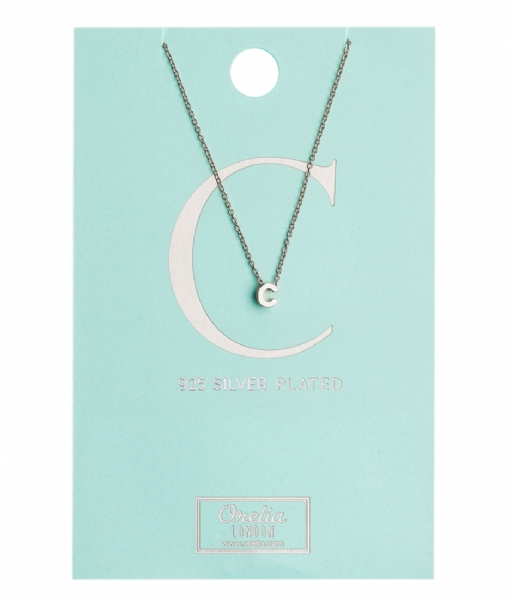 Orelia Ketting Necklace Initial C silver plated (10364)