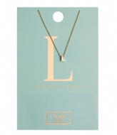 Orelia Necklace Initial L pale gold plated (10375)