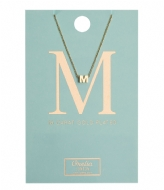 Orelia Necklace Initial M pale gold plated (10369)