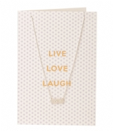 Orelia Live Love Laugh Giftcard silver plated (21119)
