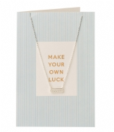 Orelia Make Your Own Luck Giftcard silver plated (21118)