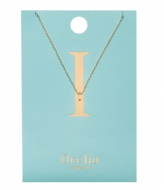 Orelia Necklace Initial I pale gold (ORE21146)