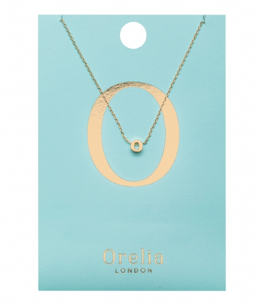 Orelia Ketting Necklace Initial O pale gold (ORE21152)