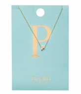 Orelia Necklace Initial P pale gold plated (21154)