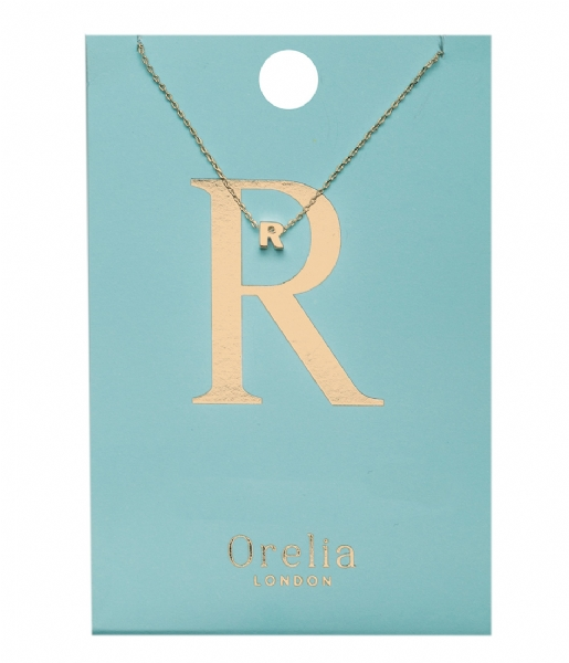 Orelia Ketting Necklace Initial R pale gold plated (21158)
