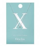 Orelia Necklace Initial X silver (ORE21169)