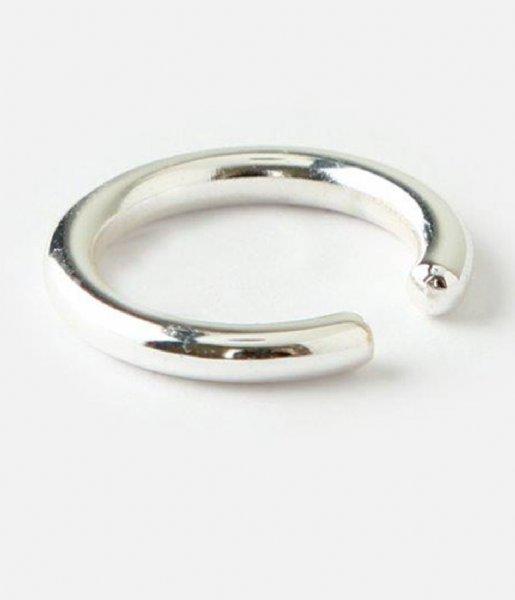 Orelia Oorbellen Orelia ear cuff glad zilverkleurig Zilverkleurig (ORE23557)