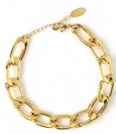 Orelia Orelia armband gourmette schakel breed goudkleurig Goudkleurig (ORE24475)