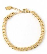 Orelia Orelia armband gourmette schakel goudkleurig Goudkleurig (ORE25526)