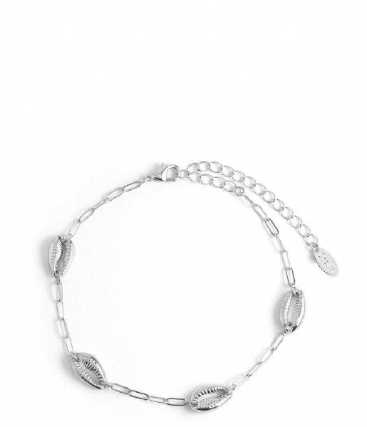 Orelia Enkelbandje Anklet Shells silver colored (ORE25594)